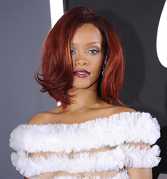 rihanna 2011 hair. Rihanna 2011 Red Hair!