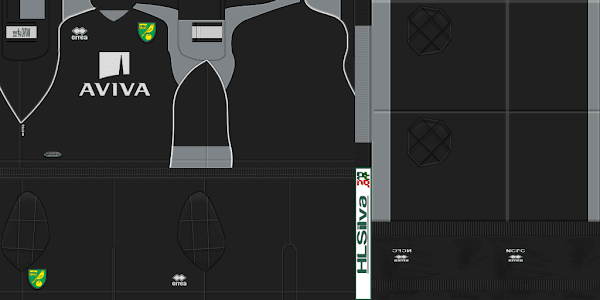 PES 2012 Norwich City 11/12 Kits by HLSilva