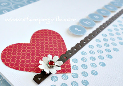Clean & Simple Hand Stamped Greeting Card