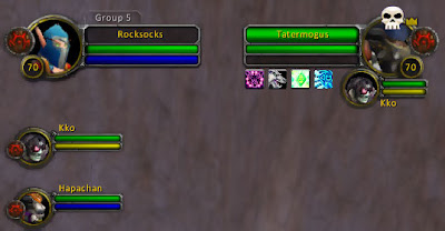 Blizzard's default party frames courtesy of Amy Slabach, via Flickr