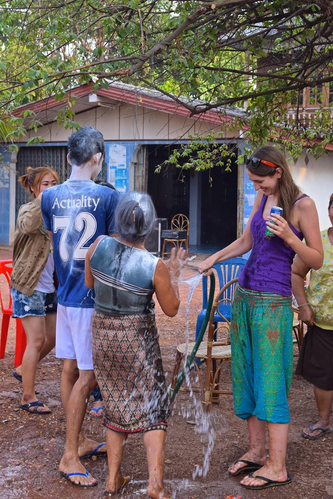 Songkran in Laos