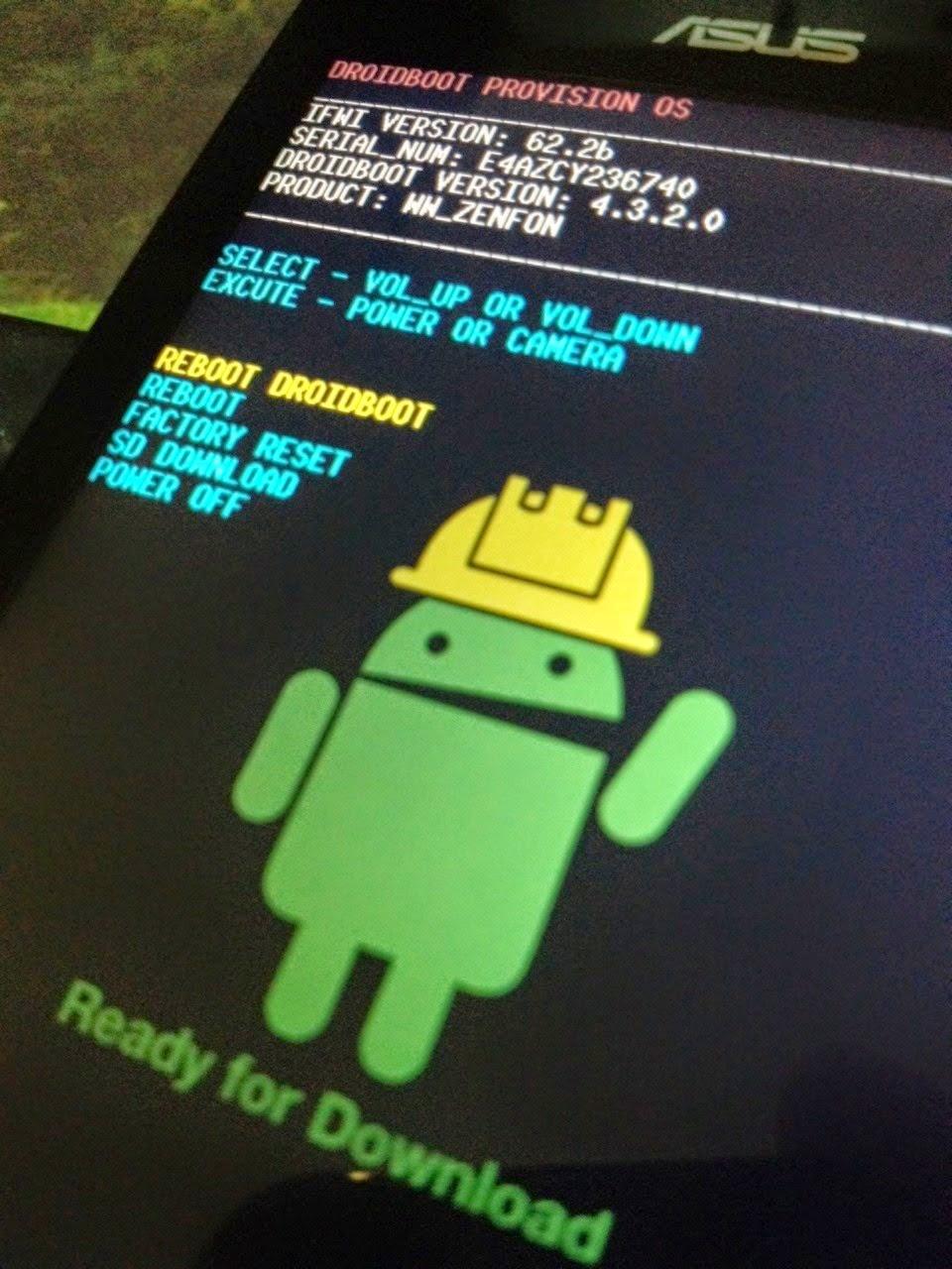 Cara Flash Ulang Asus Zenfone 4 Bootloop
