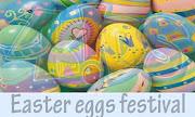 Easter eggs festival. Hello festival of Easter should be making his eggs, . easter eggs festival