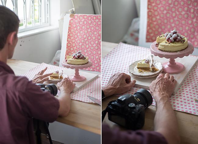 William Reavell setting up the cheesecake shot