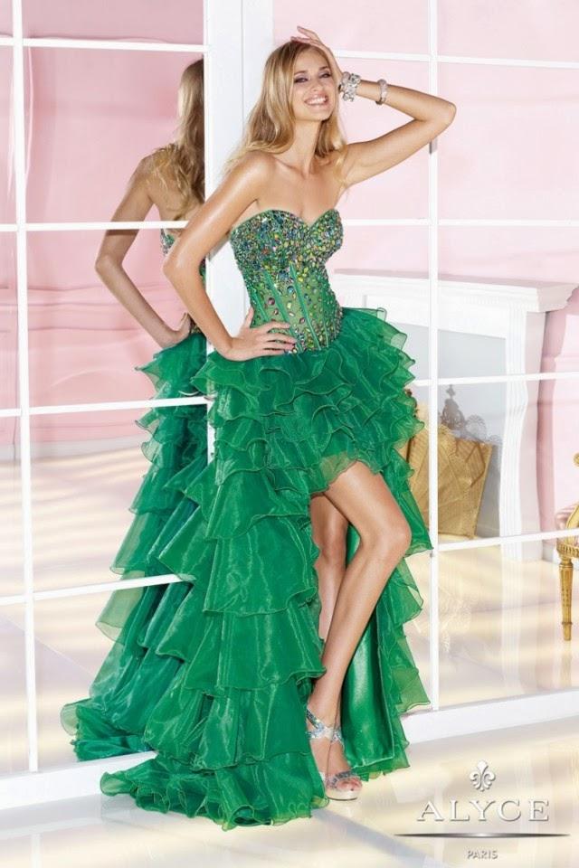 Atractivos vestidos de fiesta elegantes