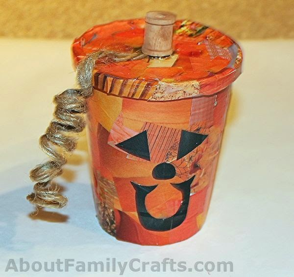 http://aboutfamilycrafts.com/decoupage-pumpkin-treat-cup/