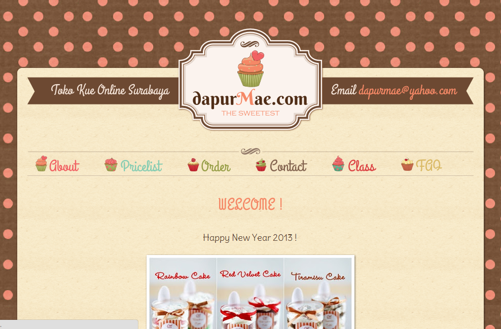 Template For Cake Design : Dapurmae Cake Online Shop Blog Design Ipietoon-Cute Blog ...