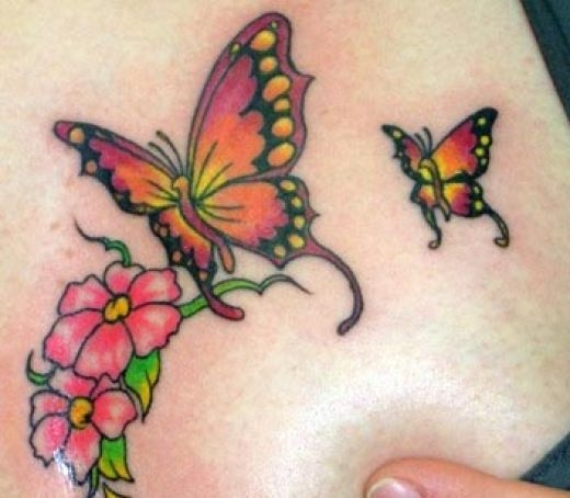 Butterfly Tattoo Designs for girl