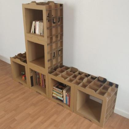 Muebles de cart n dise o 100 ecologico - Carton para muebles ...