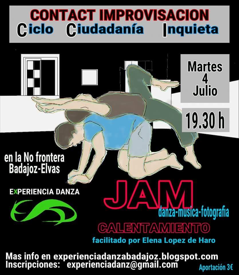 CICLO CIUDADANÍA INQUIETA: JAM danza-contact-música-fotografía