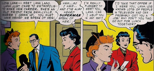 Supergirl Comic Box Commentary Supermans Girlfriend Lana Lang