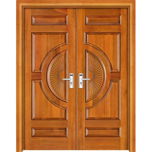 Kerala style carpenter works and designs main entrance for Home double door