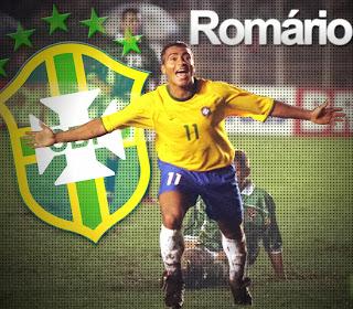 ROMARIO MANTAN PEMAIN SEPAK BOLA TIMNAS BRAZIL SERANG FIFA