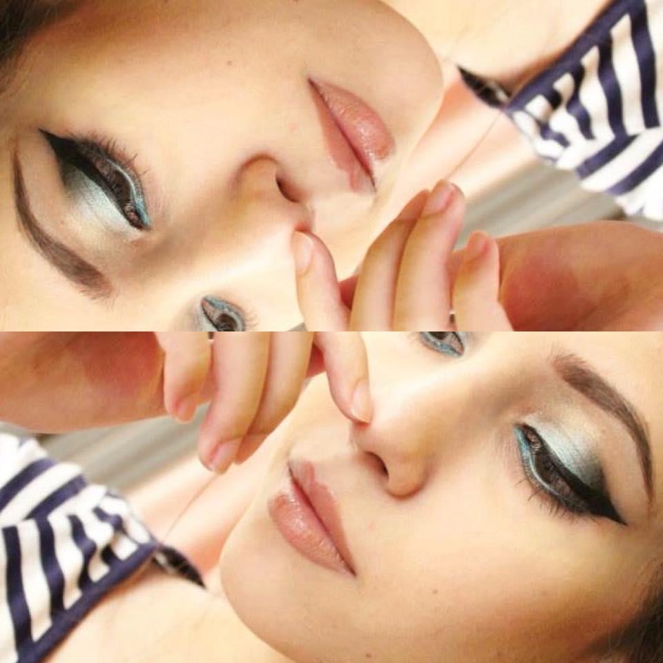 Ayeshas creative me makeup tutorial smoked blue eyes makeup tutorial smoked blue eyes baditri Gallery