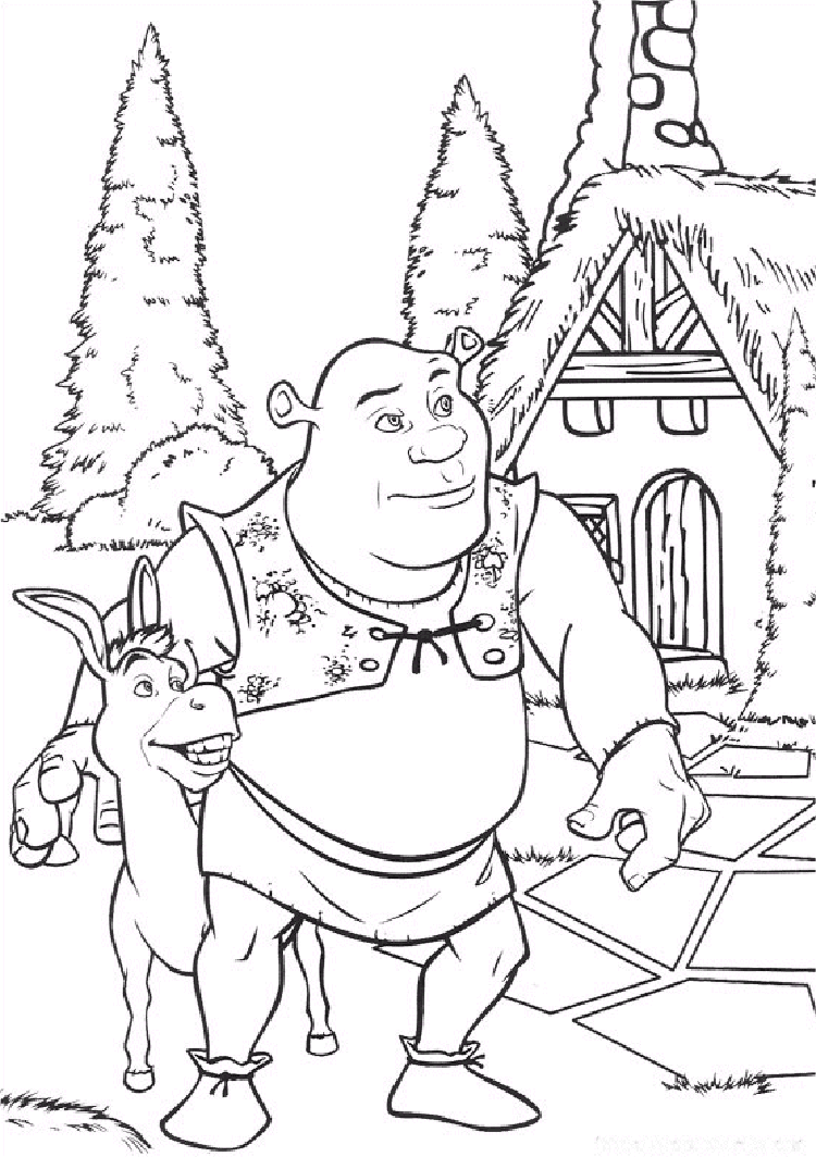 unique comics animation  top shrek coloring pages
