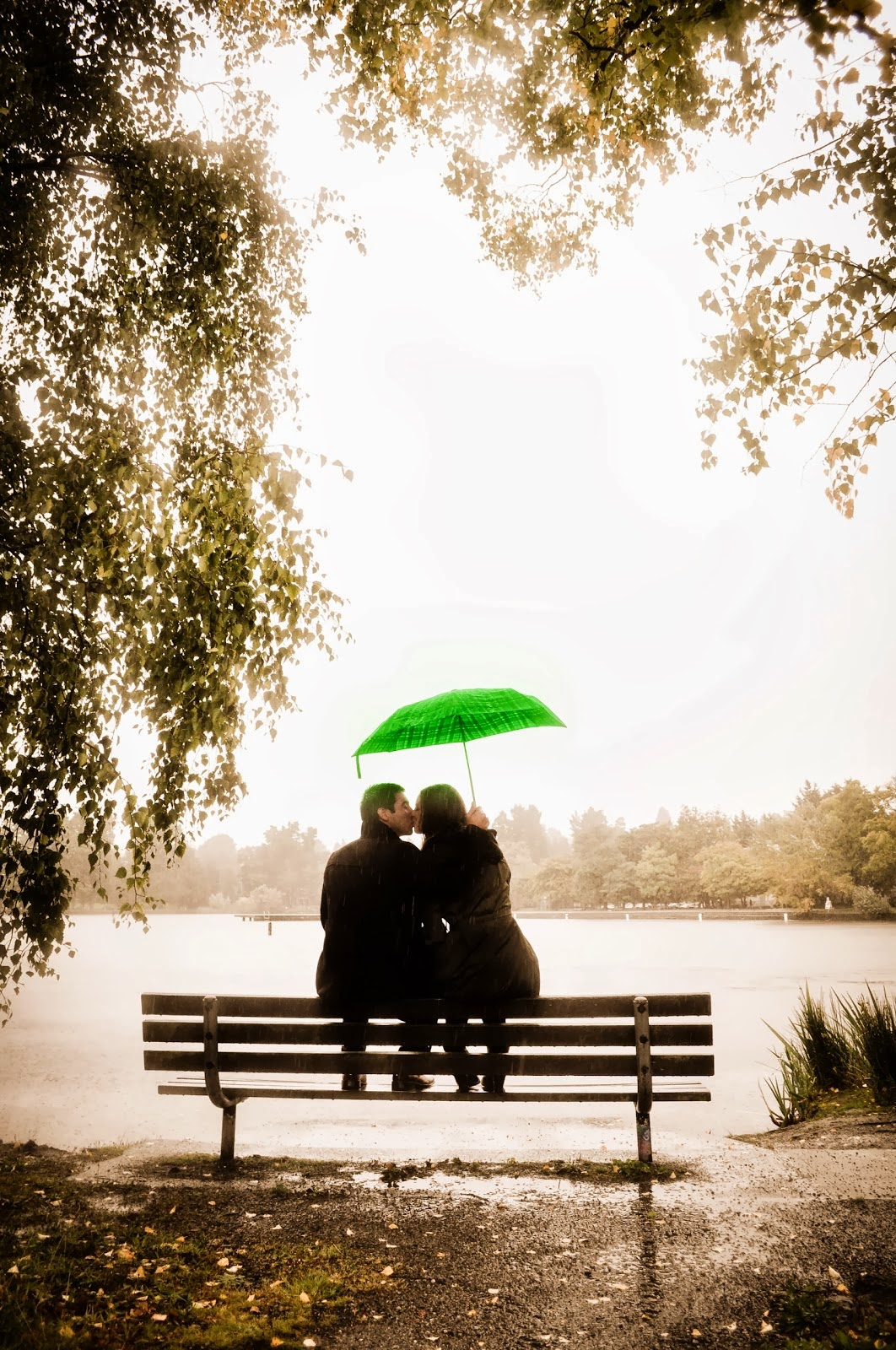 Love under an umbrella.  Posted by Patricia Stimac.