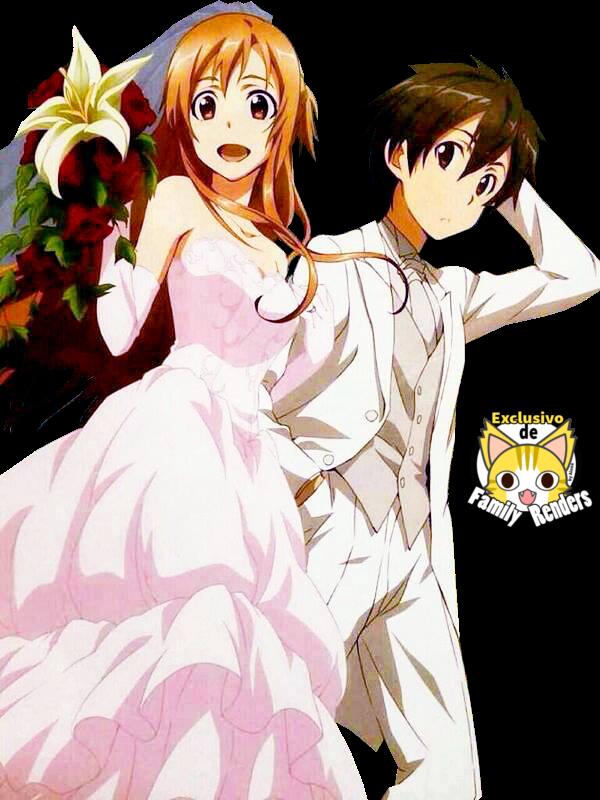 Render Boda Kirito y Asuna