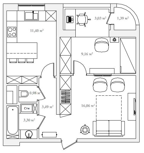 Одноэтажный двухквартирный дом фото