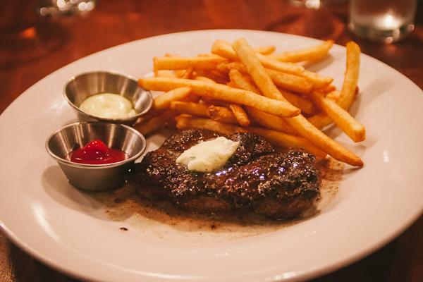Steak Frites during restaurant week at Table 3 in Nashville Tennessee