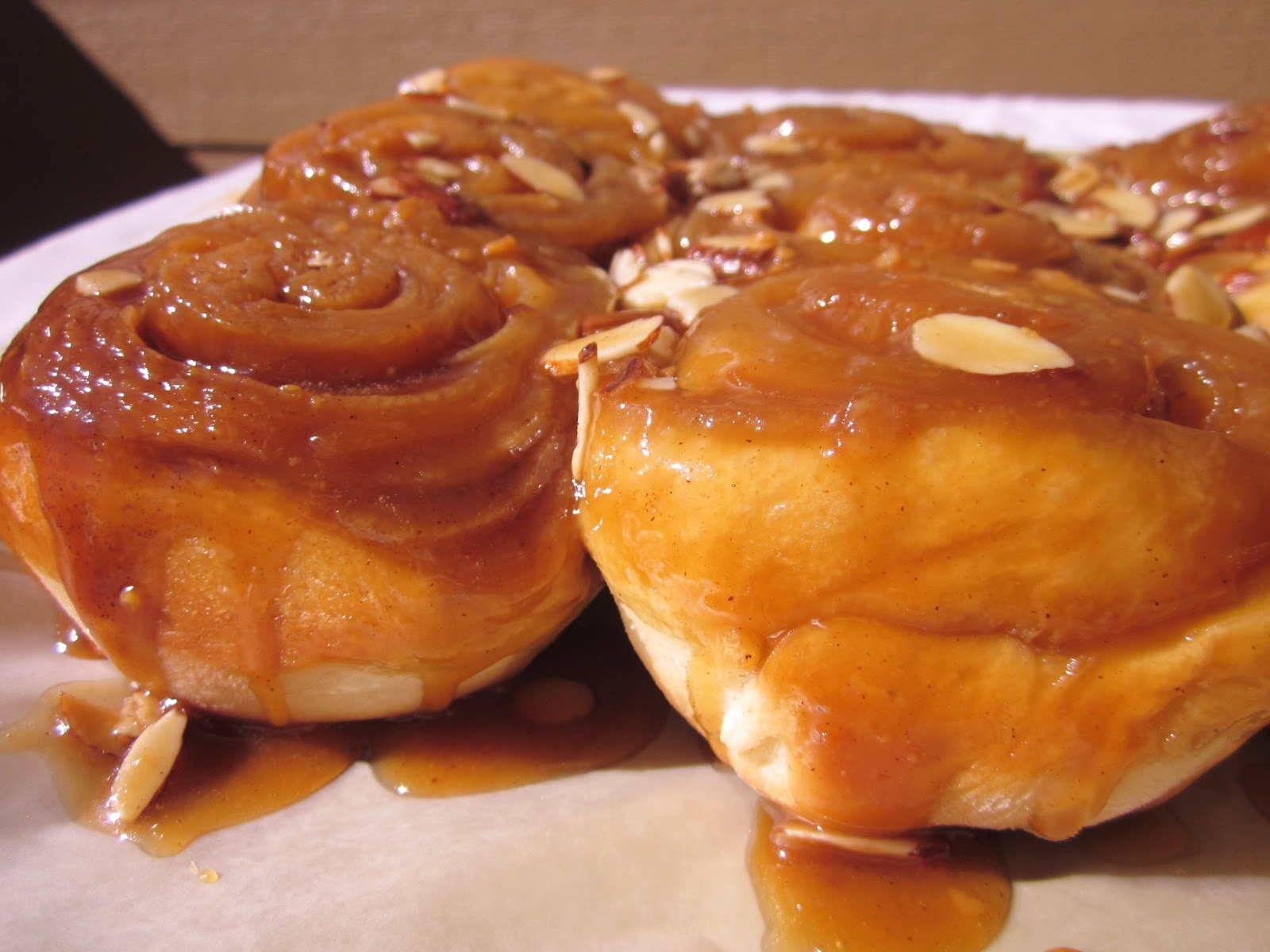 Caramel Almond Sticky Buns (inspired by Taste of Home: Fall Baking)