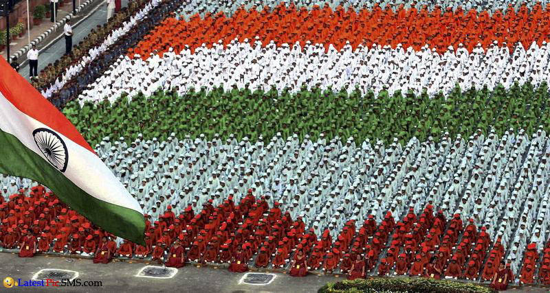Happy Independence Day Tricolor Indian People Images Wallpaper