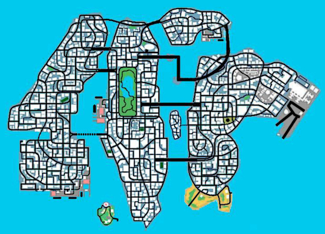 GTA 4 Map