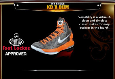 NBA 2K13 Updates KD V BHM Colorways Shoes