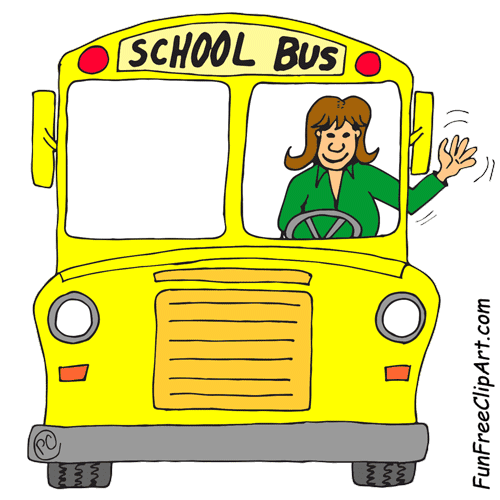 School Bus Driver Cartoon Clipart Image - Clip Art Of A Happy Bus ...
