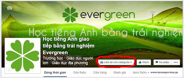 """Giao diện nút """"Kêu gọi hành động"""" hay """"Call to action"""" trên fanpage facebook"""