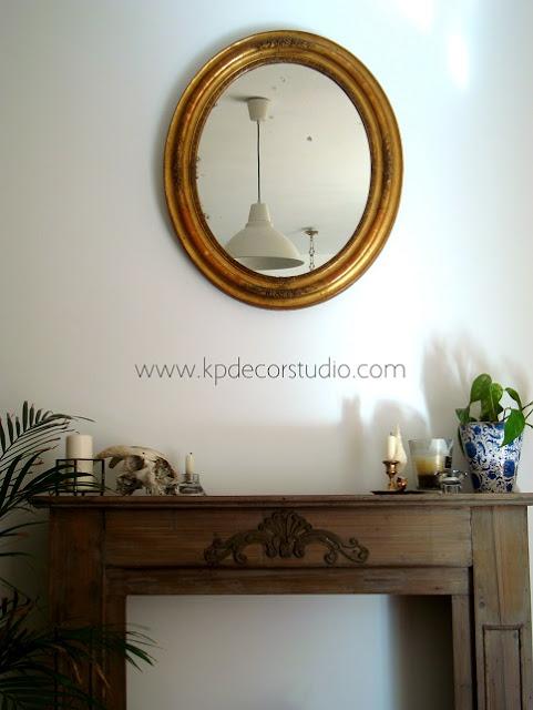 Venta de espejos dorados estilo isabelino de principios de siglo