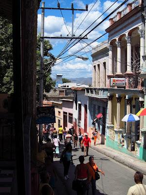 Santiago de Cuba busy street