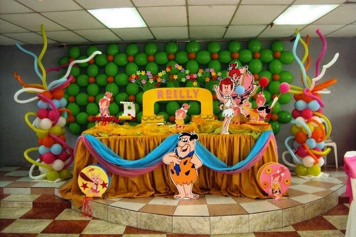 fiestas infantiles decoradas con los picapiedras parte