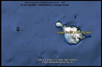 ISLAS HEARD Y McDONALD, Mapa de ISLAS HEARD Y McDONALD, Google Earth