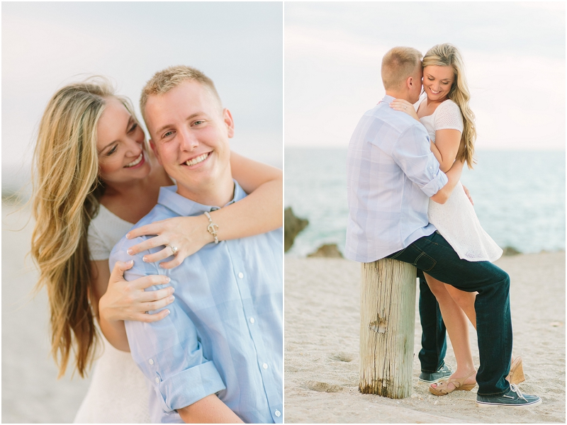house of refuge beach engagement photos