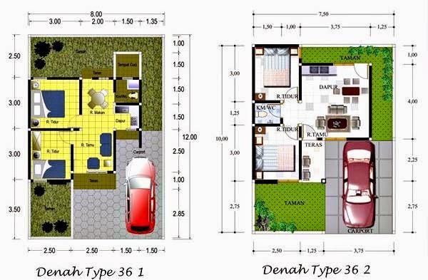 Denah Rumah Tipe 36 2014