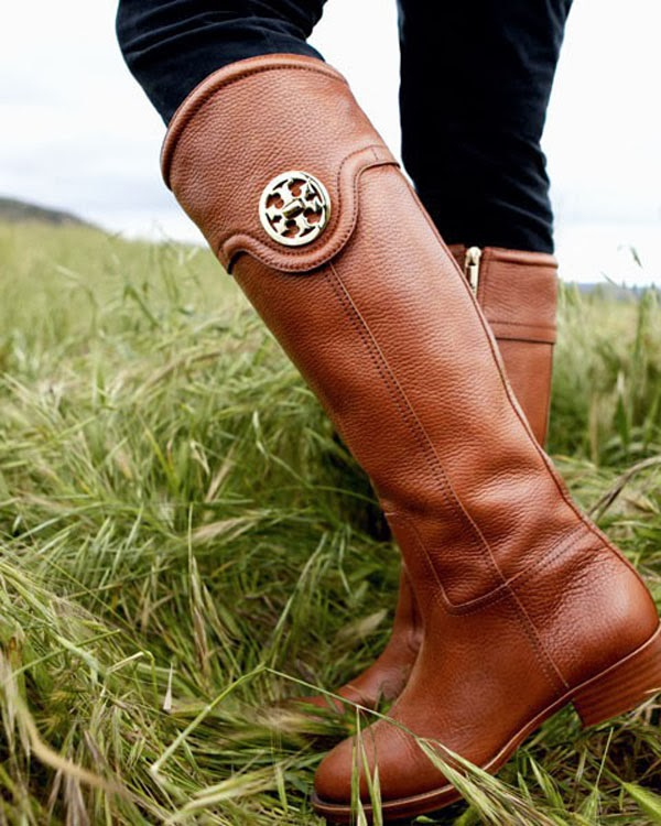Modern and Fashionable, Tory Burch, Brown Leather Long Boots, Love It