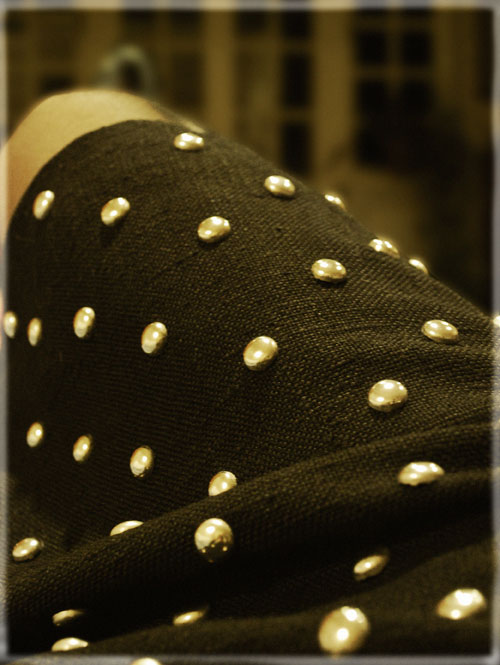 Psynopsis Vintage Jean Patou Studded Skirt Fabric