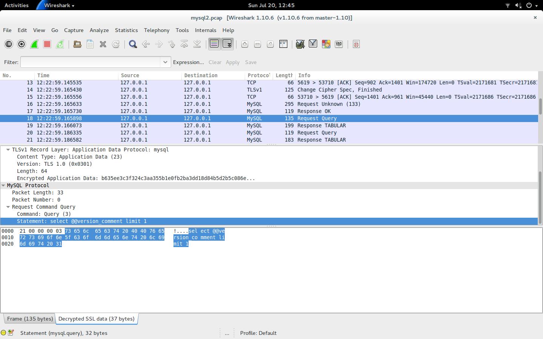 Danils Database Blog Decoding Encrypted Mysql Traffic With