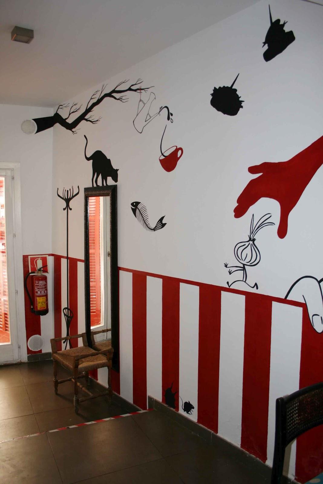 Pintura mural arte en pared y murales decorativos en - Como decorar un bar pequeno ...