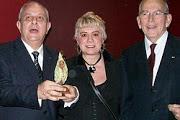 *M. Mario GIRO, Prix de la Fondation CHIRAC, Morgane BRAVO & M. Michel CAMDESSUS*