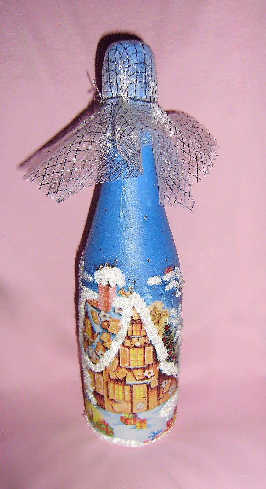 Поделки бутылки 84