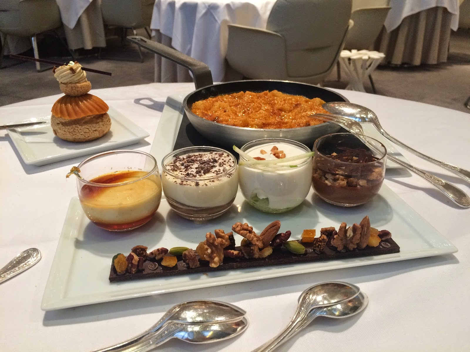 Desserts at the Haute Couture Brunch, Alain Ducasse au Plaza Athénée, Paris