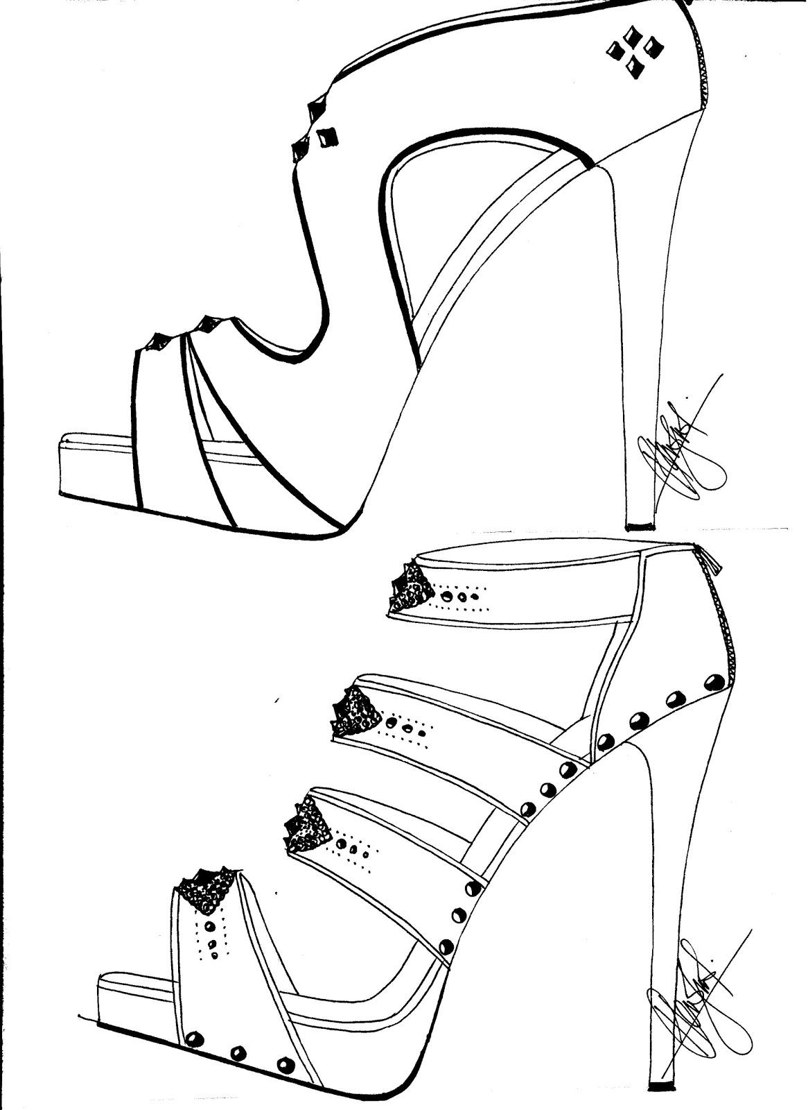 High Heel Shoe Sketches ~ High Heel Sandals
