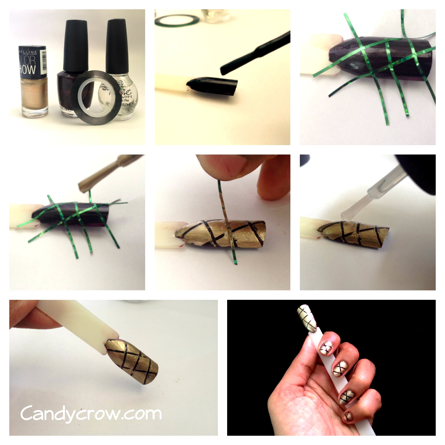 Striping Tape Nail Art Tutorial: Easy Nail Art Tutorial With Stripping Nail Tape