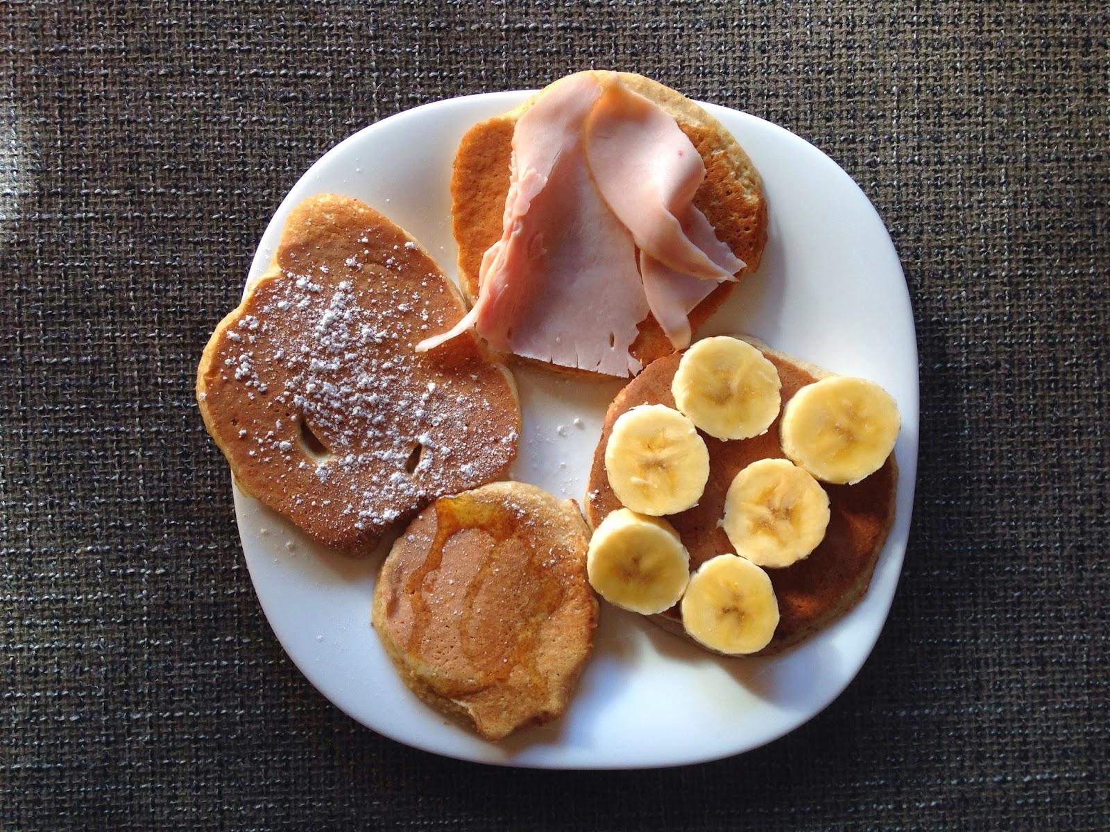 foto de tortitas de avena y plátano