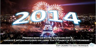 L'équipe Top Cigarette Electronique vous souhaite une belle année 2014!
