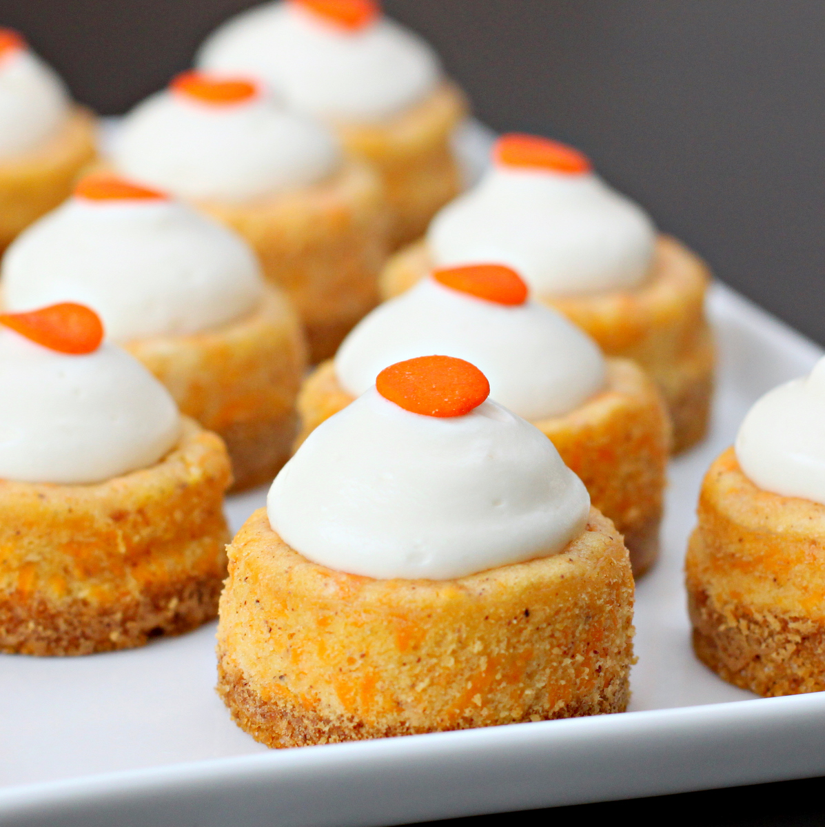 Mini Carrot Cake Cheesecakes With Cream Cheese Icing Recipes ...