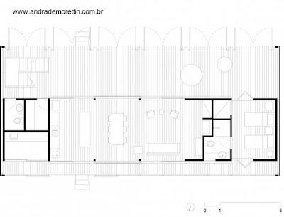 Plano arquitectónico de planta baja de la casa
