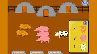 Pocilga de los cerditos - Conteo, numeración