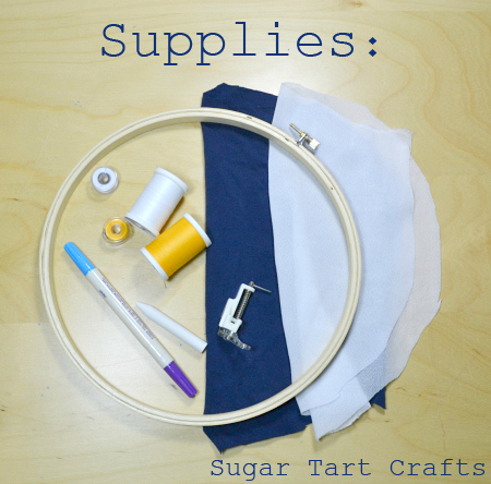 Free motion embroidery supplies